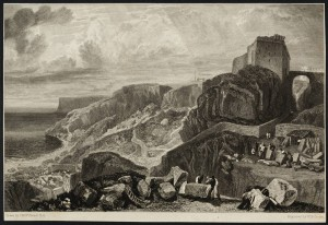 Bow and Arrow Castle, Isle of Portland, engraved by W.B. Cooke published 1817 Joseph Mallord William Turner 1775-1851 Transferred from the British Museum 1988 http://www.tate.org.uk/art/work/T05975